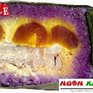 bánh tét lá cẩm Cần thơ nhân hột vịt muối tôm khô